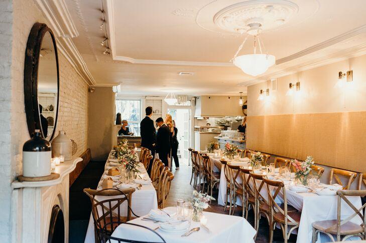 Intimate Restaurant Reception