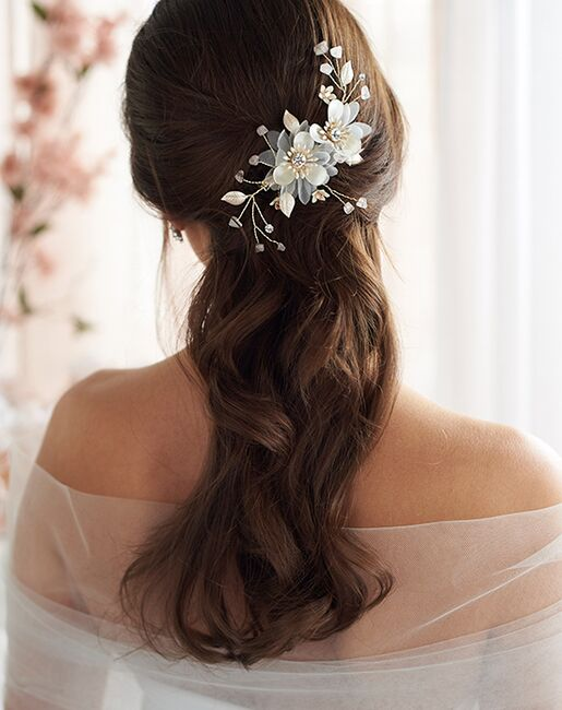 Dareth Colburn Bella Floral Hair Clip (TC-2338-G) Gold Pins, Combs + Clip