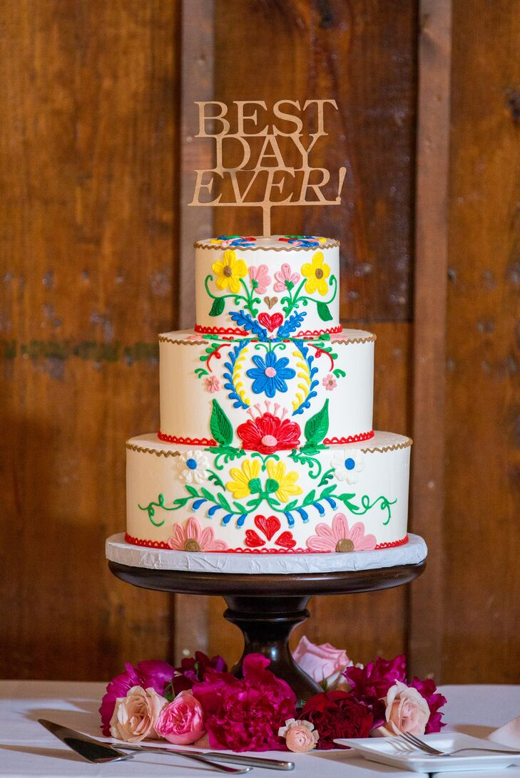 Mexican Wedding Cakes.Traditional Mexican Colorful Wedding Cake Design