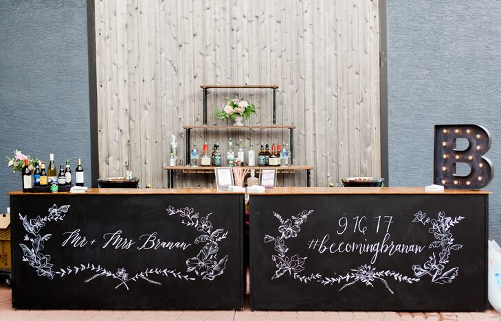 Modern Industrial Bar with Custom Calligraphy