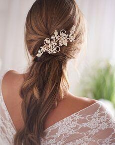 Dareth Colburn Shayla Pearl Wedding Clip (TC-2427) Gold Pins, Combs + Clip