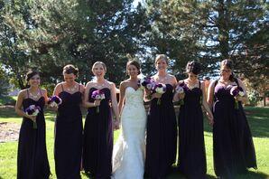 Dark Eggplant Wedding Dresses