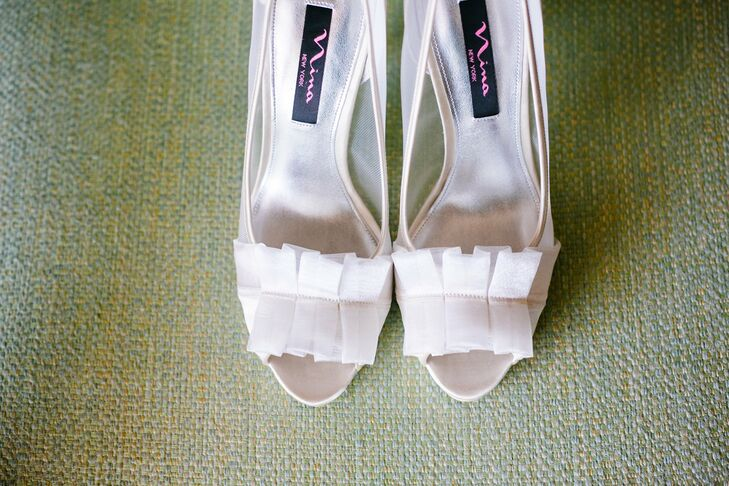Charming ruffles decorated the top of the Holly's white stilettos.