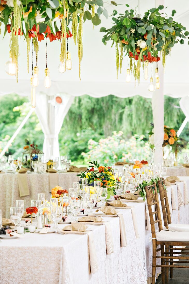 Ivory Head Table at the Reception