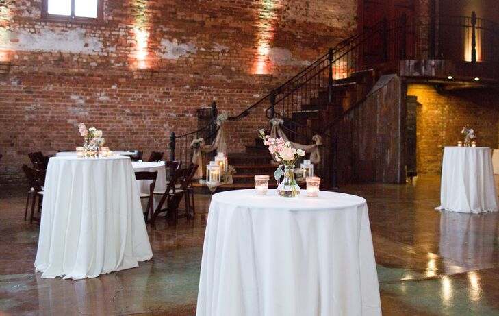 """I'm a fairly simple girl so it was so refreshing knowing that the Old Cigar Warehouse wouldn't require a lot of decor,"" says Morgan. ""It was simply beautiful on its own!"""