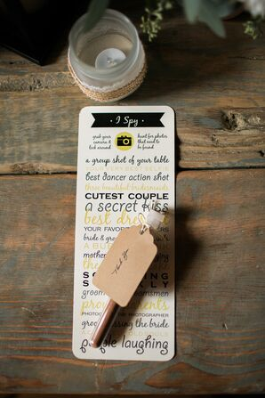 DIY Black and Yellow Wedding Stationery