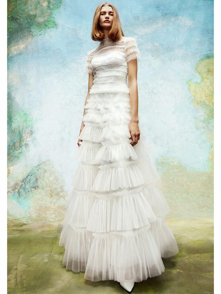Viktor&Rolf wedding dress tulle tiered a-line dress