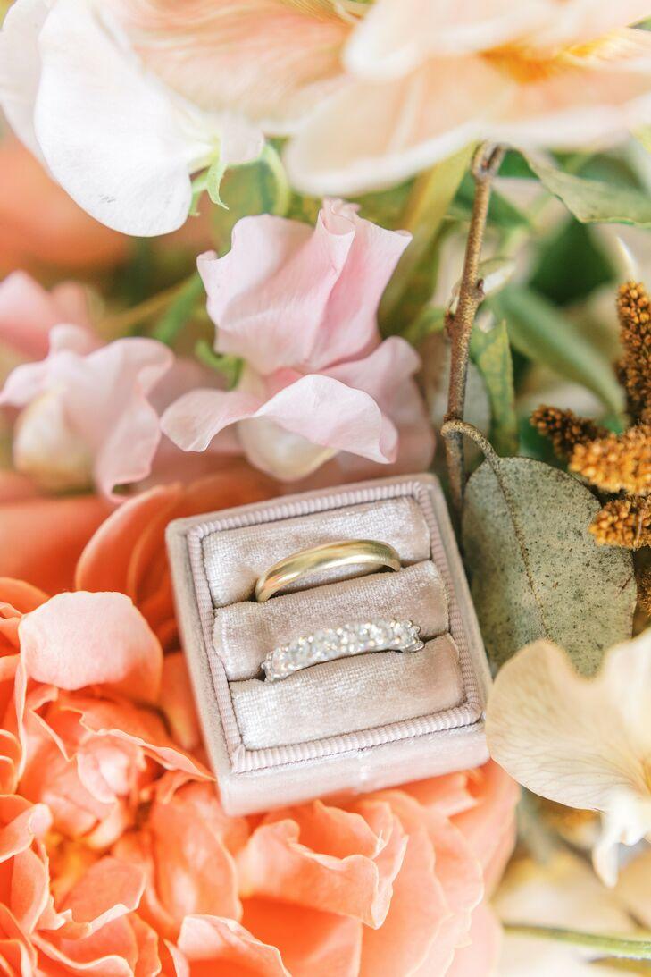 Wedding Rings in Arranged Velvet Box