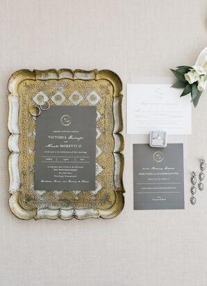 Glamorous Gray Invitation Suite
