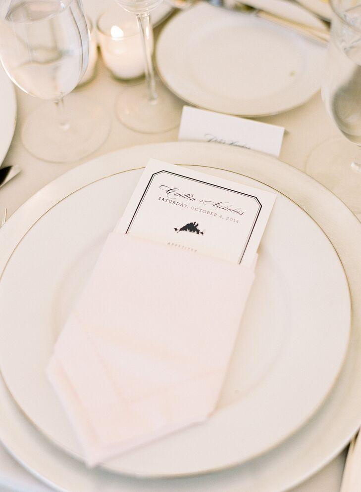 Traditional White Dinnerware and Formal Menus