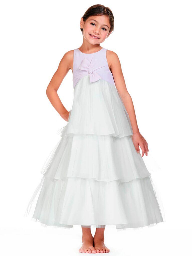 Bari Jay tiered flower girl dress
