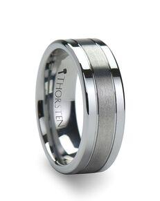 Mens Tungsten Wedding Bands W343-FGBC Tungsten Wedding Ring