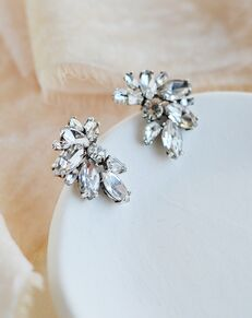 Dareth Colburn Shea Crystal Cluster Studs (JE-4192) Wedding Earring photo