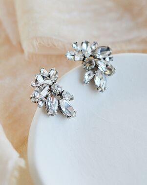 Dareth Colburn Shea Crystal Cluster Studs (JE-4192) Wedding Earring photo