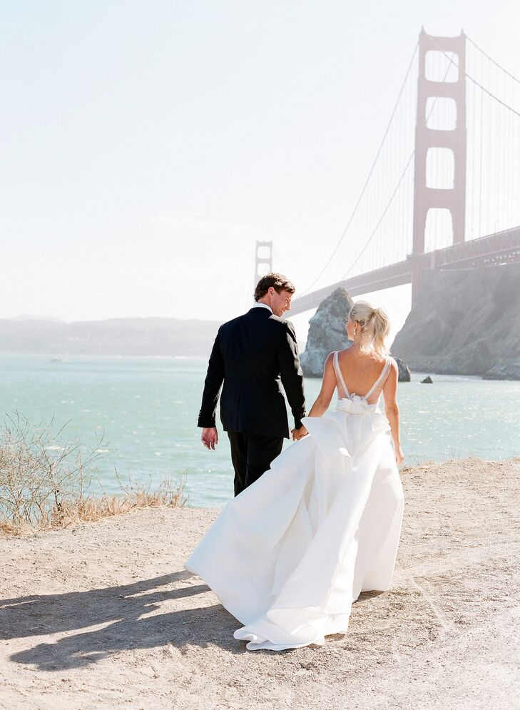Lauren Zimmer and David Noel's fall wedding at Cavallo Point in San Francisco exuded West Coast elegance with sweeping bay views and a muted color pal
