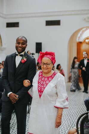 Ceremony Processional at Ebell Long Beach in California