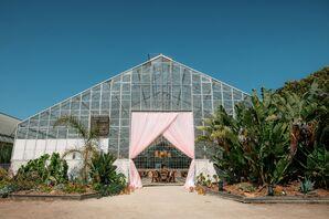 Pink Draping at Dos Pueblos Orchid Farm in California