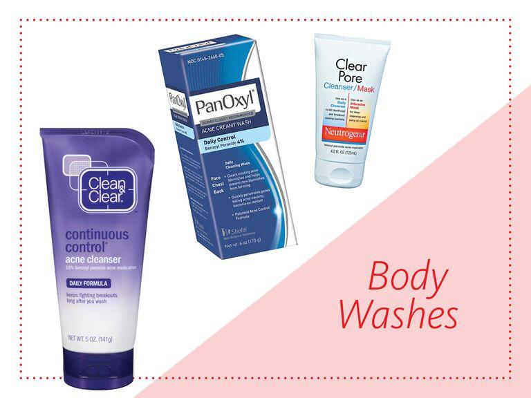 Back acne body washes