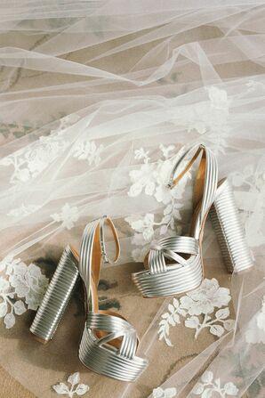 Silver Heels for Wedding in Granite Bay, California