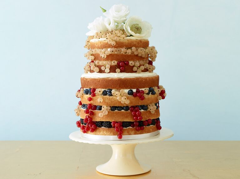 10 unexpected wedding cake ideas naked wedding cake with berries junglespirit Gallery