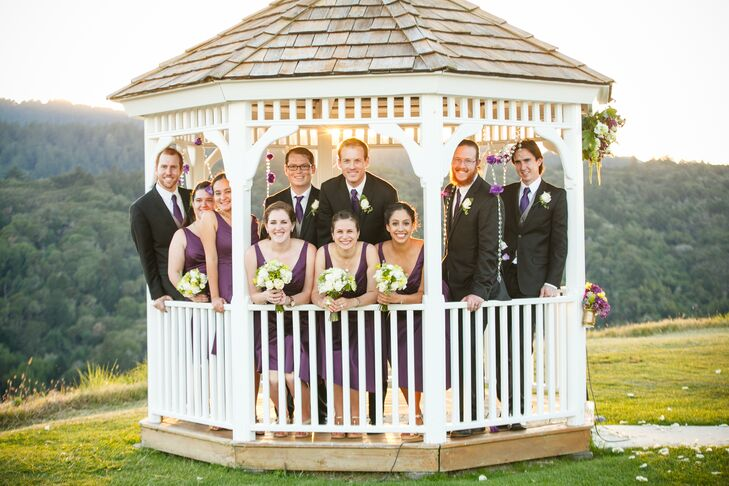 A Plum and Gold Classic Wedding at Crystal Springs Golf