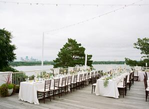 Lakefront Reception Dining Tables at The Minikahda Club