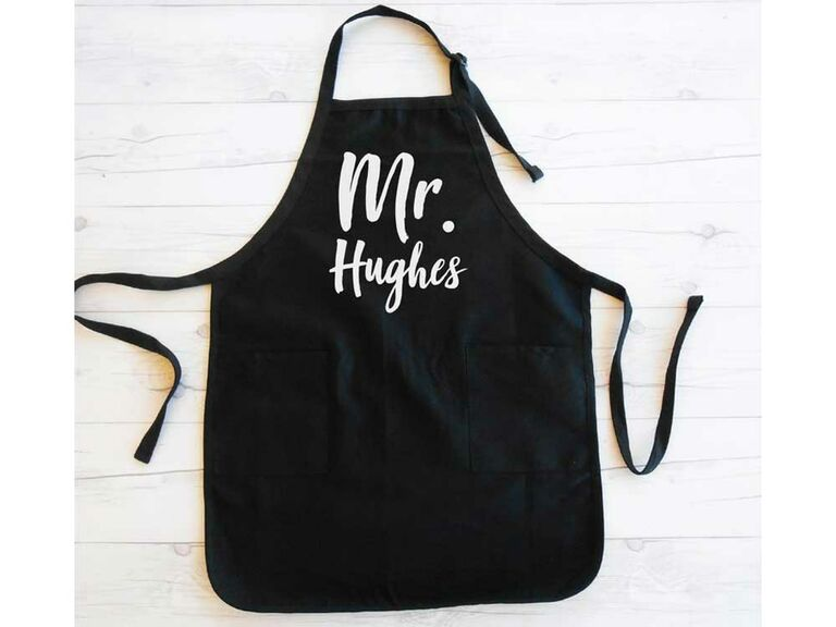 Custom grill apron cotton anniversary gifts for him
