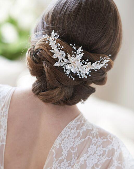 Dareth Colburn Grace Floral Comb (TC-2337) Gold, Silver Pins, Combs + Clip