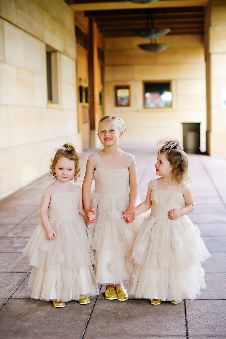 039162e14 Neutral Layered Flower Girl Dresses
