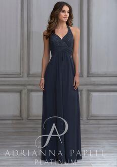 Adrianna Papell Platinum 40118 Halter Bridesmaid Dress