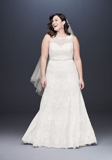 David's Bridal Galina Style 9WG3953 Sheath Wedding Dress