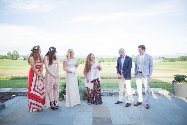 Rustic Backyard Vow Renewal Ceremony in Vermont