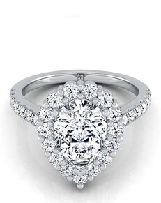 RockHer Glamorous Pear Cut Engagement Ring