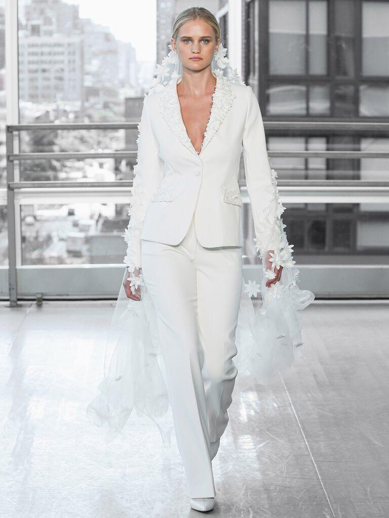 Justin Alexander Wedding Dress Pantsuit
