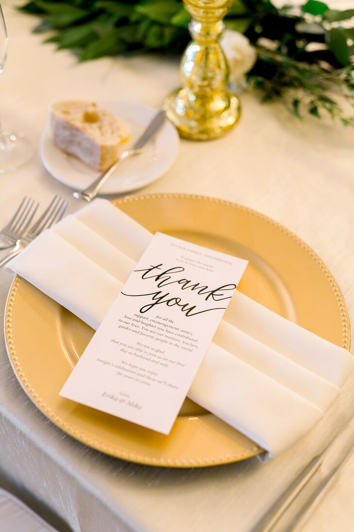 Simple Place Setting at Bella Collina in Florida
