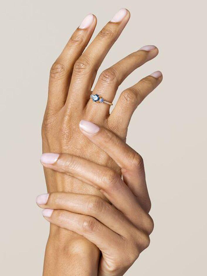 Sapphire alternative engagement ring