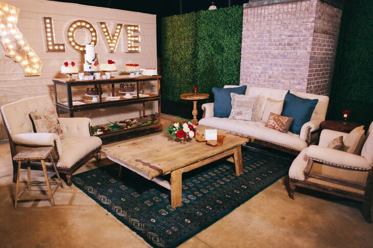 Outdoor Lounge Area With Love Sign