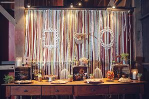 Shabby-Chic Candy Bar with Streamers