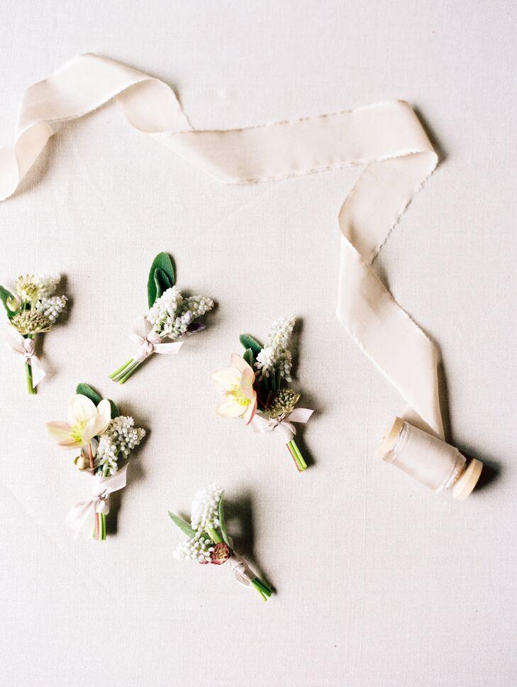 Ivory Hyacinth Boutonniere