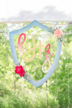 Whimsical Custom Crest with Ombre Design