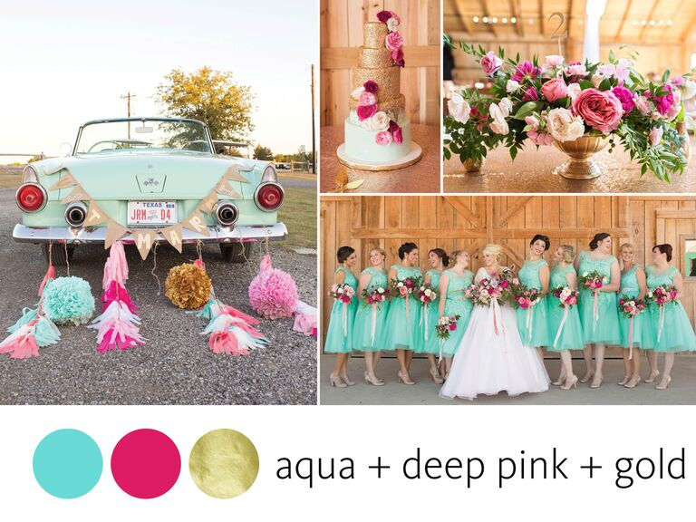 9d6091bcdbe Summer wedding color combination with aqua