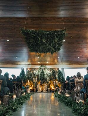 Ceremony with Moss Installation at Childress Vineyards
