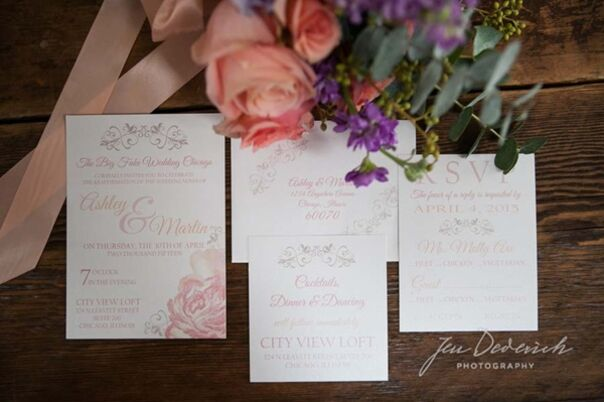 invitations + paper in chicago, il - the knot, Wedding invitations