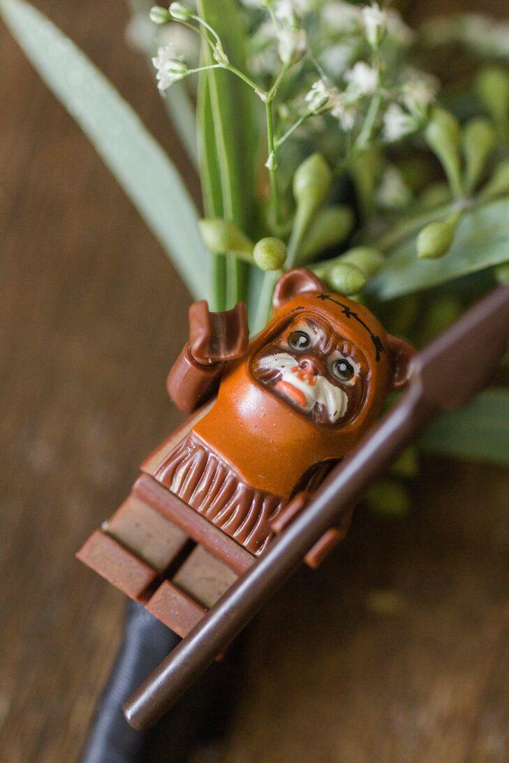 Boutonniere with Star Wars Lego Figurine