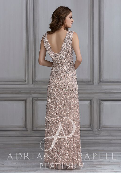 Adrianna Papell Platinum 40108 Scoop Bridesmaid Dress