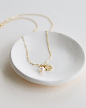 Dareth Colburn Engraved Initial Necklace (JN-1705) Wedding Necklace photo