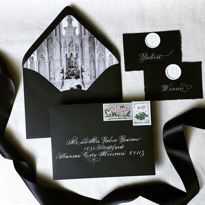 Addressing Elegance - Calligraphy   Wedding Invitations