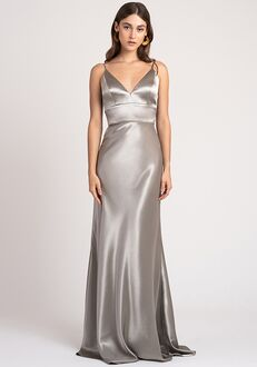 Jenny Yoo Collection (Maids) Brenna V-Neck Bridesmaid Dress