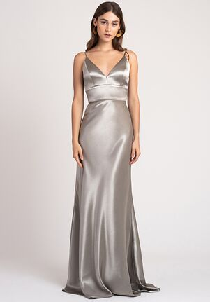 Jenny Yoo Collection (Maids) Brenna V-Neck Bridesmaid Dress