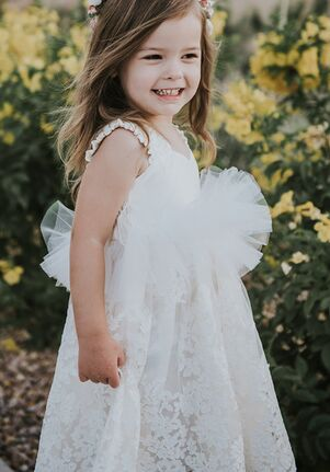 FATTIEPIE lille ivory Flower Girl Dress